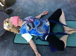 Supine Ankle Knee Pose
